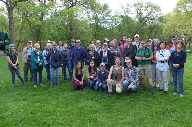 Schenley Park bird walk group, 30 April 2017 (photo by Kate St. John)