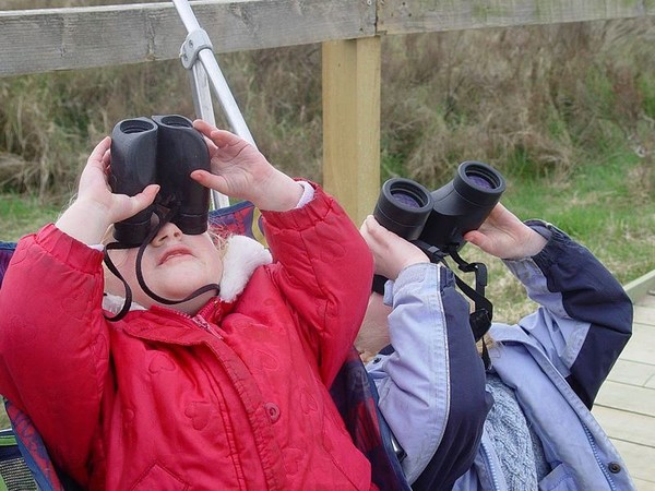 Little kids with binoculars (photo from Wikimedia Commons)