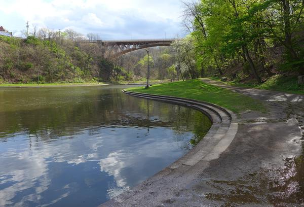 Panther Hollow Lake at Schenley Park, April 2017 (photo by Kate St. John)