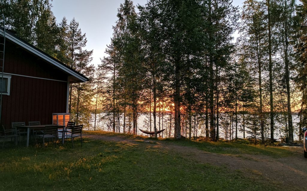 Just after sunrise at the cottage, 3:34am