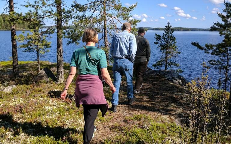 Hiking around the peninsula, 2 July 2017, Rikkavesi lake, Finland
