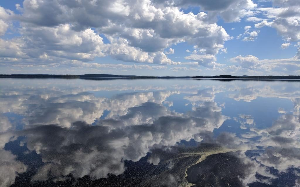 Reflections on the lake, 3 July 2017, Finland