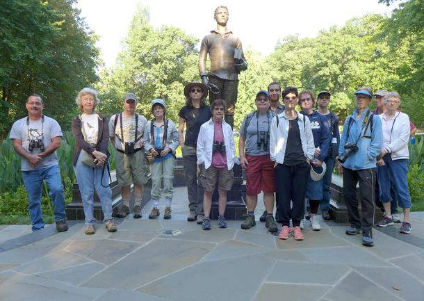 Participants in the Schenley Park outing, 30 July 2017 (photo by Kate St.John)