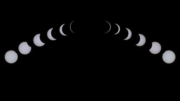 Composite of total solar eclipse in South Carolina, USA, 21 August 2017 (photo by Herm Donatelli)