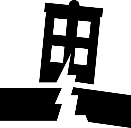 Earthquake symbol (image from Wikimedia Commons)