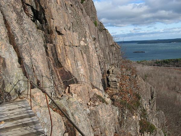 Precipice Trail, Acadia National Park (photo from Wikimedia Commons)