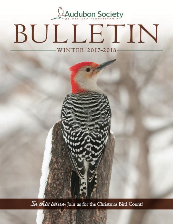 Cover of Audubon Society of Western Pennsylvania Bulletin, Winter 2017-2018