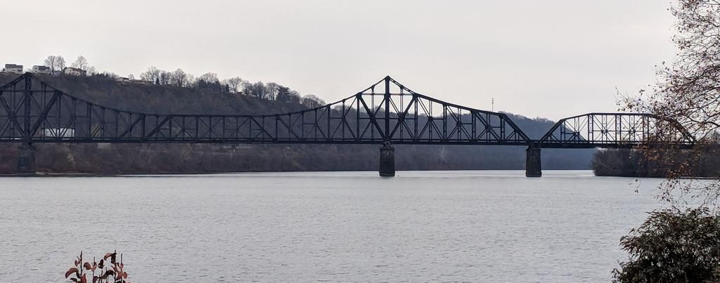 Railroad bridge over the Ohio River from Monaca to Beaver (photo by Kate St.John)