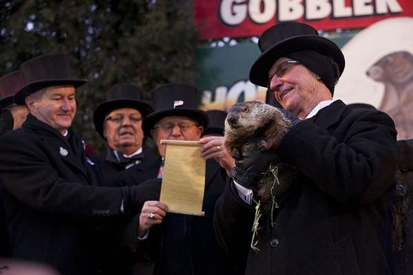 Groundhog Day in Punxsutawney, 2013 (photo from Wikimedia Commons)