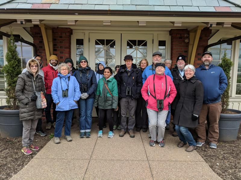 It was cold! Schenley Park outing, 29 April 2018 (photo by Kate St. John)