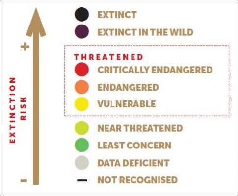 graphic of IUCN Threat Assessment Categories