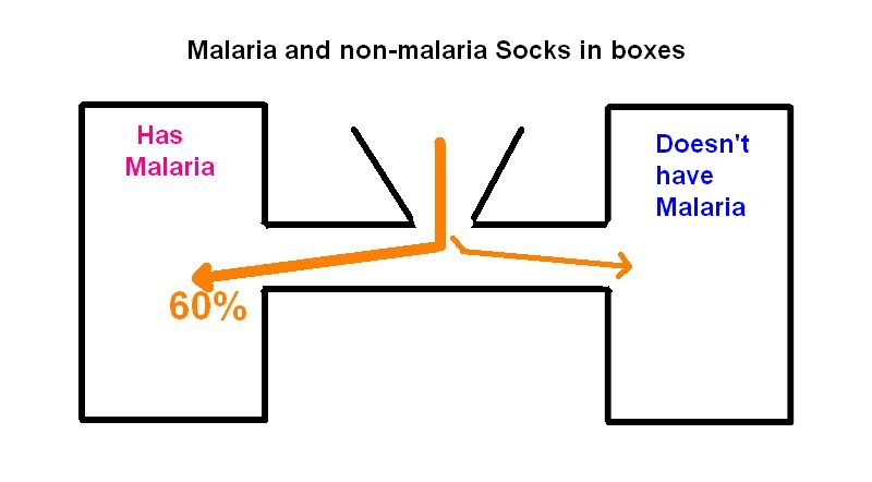 Diagram of malaria attraction test, drawn by Kate St. John based on Science Magazine article
